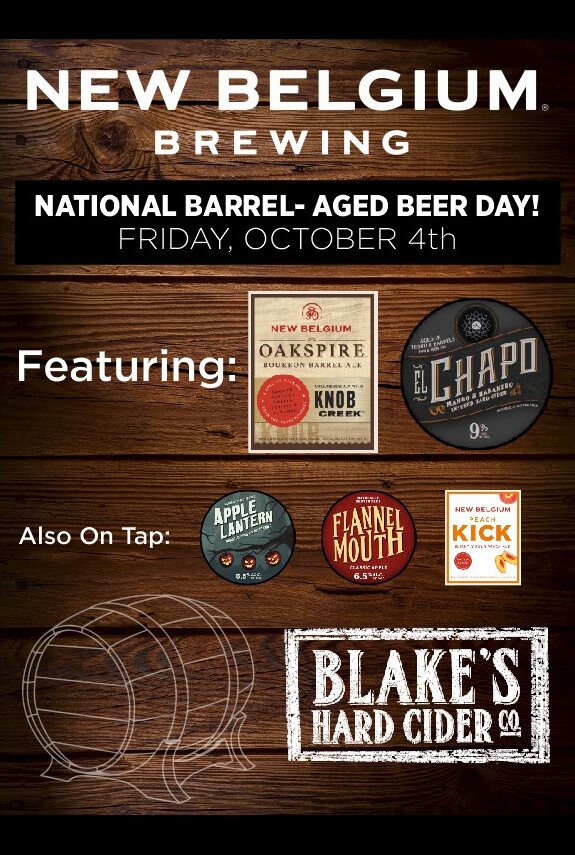 New Belgium Brewing - National Barrel-Aged Beer Day